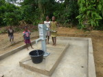 Manually drilled borehole completed in Central Region brings potable water to communities.